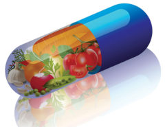 14813039 - vegetables in capsule concept vitamin from vegetables